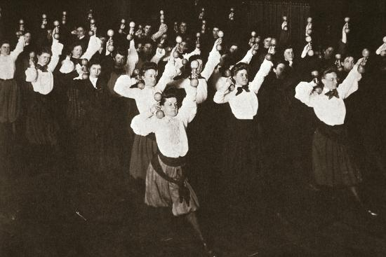 YWCA members exercising, 1910s-Unknown-Photographic Print