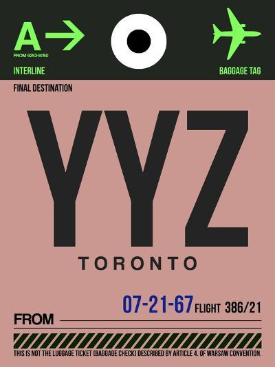YYZ Toronto Luggage Tag 2-NaxArt-Art Print