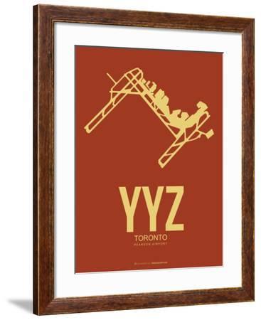 Yyz Toronto Poster 1-NaxArt-Framed Art Print