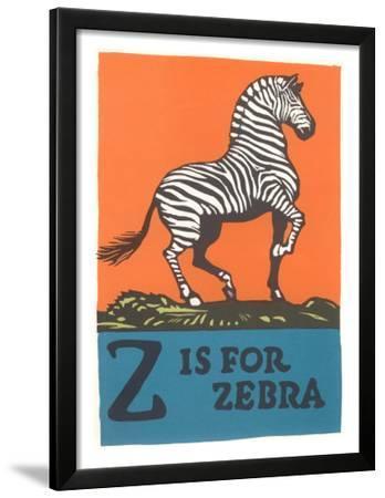 Z is for Zebra--Framed Art Print