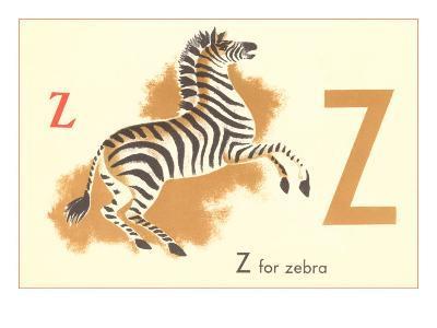 Z is for Zebra--Art Print