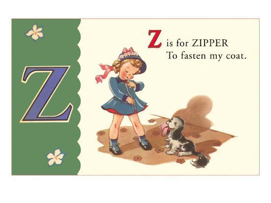 Z is for Zipper--Art Print