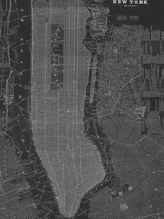 New York Map - B&W