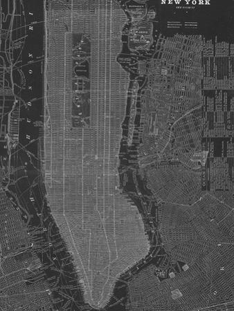 New York Map - B&W by Z Studio