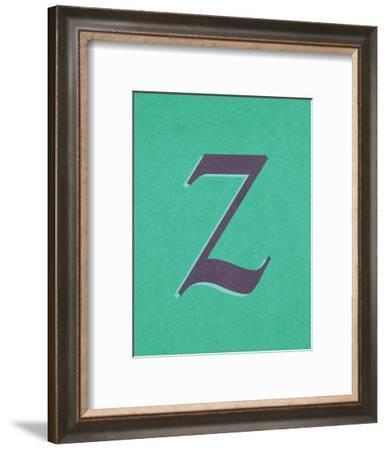 Z--Framed Art Print