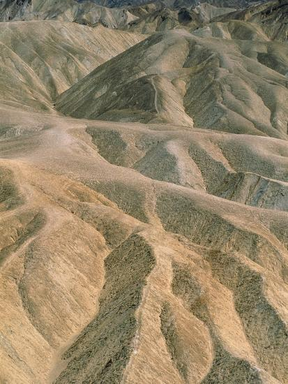 Zabriskie Point in the Death Valley National Park, California (USA)-Theo Allofs-Photographic Print