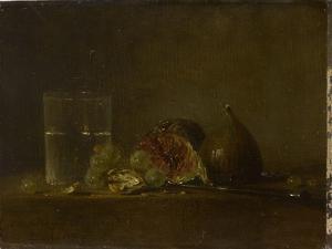 Figues, noix, raisins et verre d'eau by Zacharie Zakarian