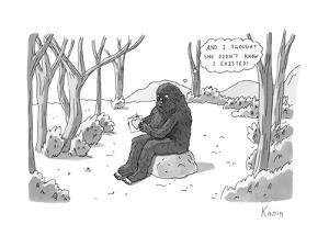 """""""And I thought she didn't know I existed!"""" - New Yorker Cartoon by Zachary Kanin"""