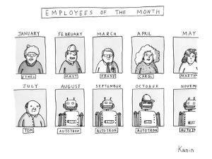 Employees of the Month - New Yorker Cartoon by Zachary Kanin