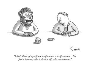 """""""I don't think of myself as a wolf man or a wolf woman?I'm just a human, w? by Zachary Kanin"""