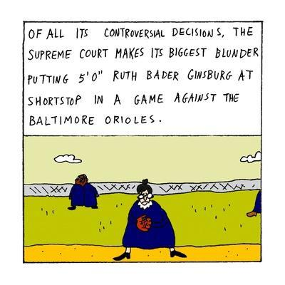 "Of all its controversial decisions, the Supreme Court makes its biggest bl?"" - New Yorker Cartoon"