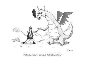 """""""Take the picture, damn it, take the picture!"""" - New Yorker Cartoon by Zachary Kanin"""