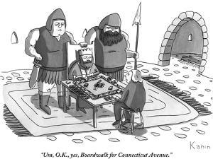 """Um, O.K., yes, Boardwalk for Connecticut Avenue."" - New Yorker Cartoon by Zachary Kanin"