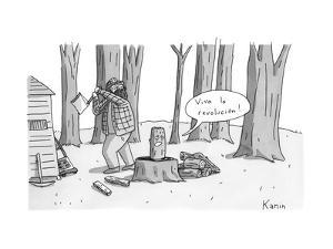 Viva la revolucion! - New Yorker Cartoon by Zachary Kanin