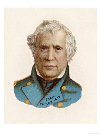 """Zachary Taylor Known as """"Old Rough-And-Ready"""" American Soldier 12th Us President--Giclee Print"""