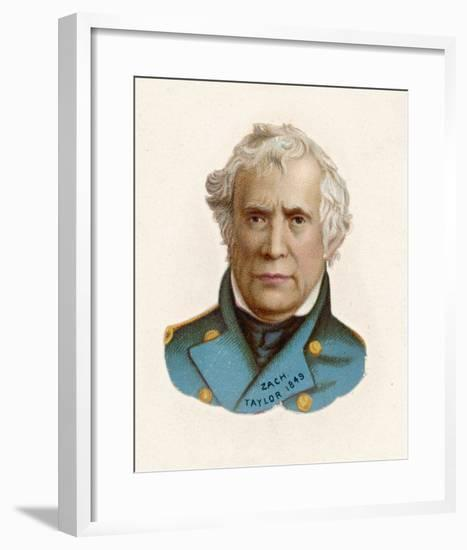 """Zachary Taylor Known as """"Old Rough-And-Ready"""" American Soldier 12th Us President--Framed Giclee Print"""