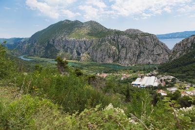 Zakucac, Dalmatia, Croatia. Cetina river near the Zakucac Hydroelectric Power Plant.--Photographic Print