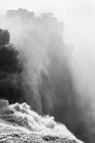 Zambezi River and Victoria Falls, Zimbabwe-Paul Souders-Photographic Print