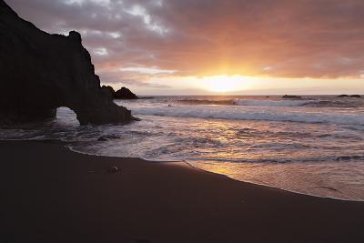 Zamora Beach at Sunset (Playa De La Zamora) Near Fuencaliente, La Palma, Canary Islands, Spain-Markus Lange-Photographic Print