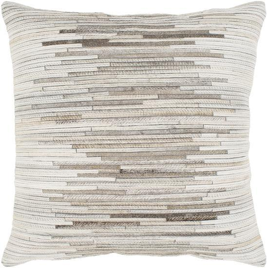 """Zander 20"""" x 20"""" Poly Fill Pillow - Ivory--Home Accessories"""