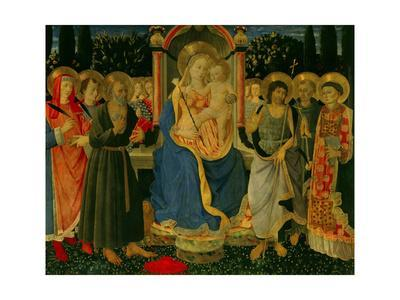 Altarpiece of Saint Jerome: Madonna and Child Enthroned with Saints
