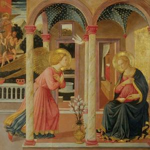 Annunciation by Zanobi Machiavelli