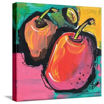 Zany Apples-Terri Einer-Stretched Canvas Print