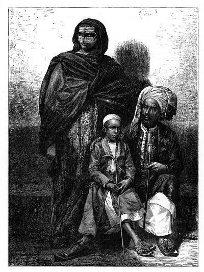 Zanzibar Arab Family, C1890--Giclee Print