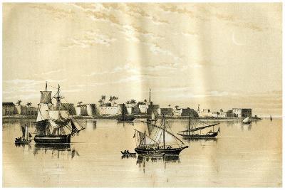 Zanzibar from the Sea, 1883--Giclee Print
