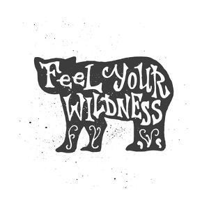 Bear Lettering Poster by zapolzun