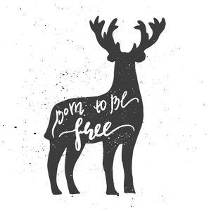 Deer Lettering Poster by zapolzun