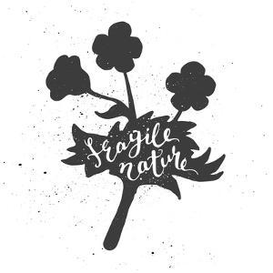 Flower Lettering Poster by zapolzun