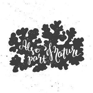 Lichen Lettering Poster by zapolzun