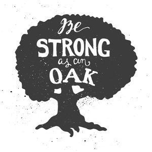 Oak Lettering Poster by zapolzun