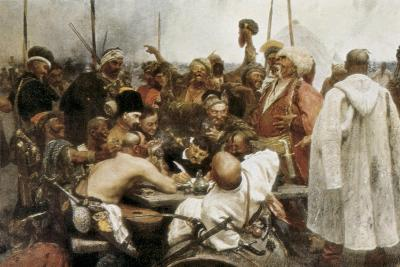 Zaporozhian Cossacks Reply to Sultan Mehmed IV-Ilya Yefimovich Repin-Art Print