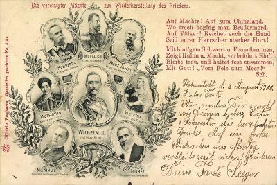Zar Nikolaus, Kaiser Mutsuhito, Franz Josef, Wilhelm--Giclee Print
