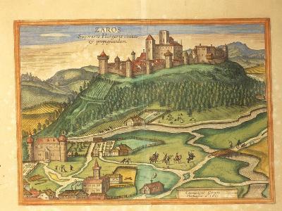 Zaros, Crete from Civitates Orbis Terrarum by Georg Braun, 1541-1622 and Franz Hogenberg, 1540-1590--Photographic Print