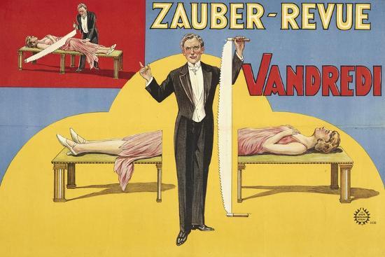 Zauber-Revue - Vandredi. Germany, 1923 (Adolph Friedländer, Hamburg)- Atelier Adolph Friedländer-Giclee Print