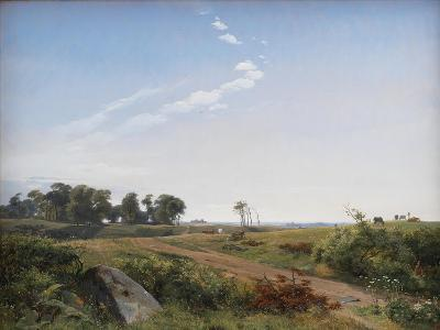 Zealand Landscape. Open Country in North Zealand, 1842-Johan Thomas Lundbye-Giclee Print