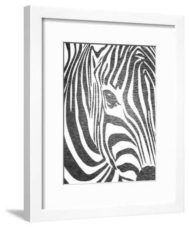 Zebra 3-Ikonolexi-Framed Art Print