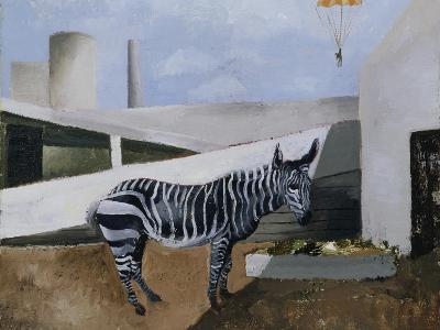 Zebra and Parachute-Christopher Wood-Giclee Print