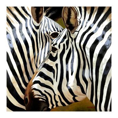 Zebra Close-up-Arcobaleno-Art Print