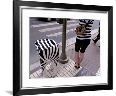 Zebra Crossing on Zaragoza Avenue-Tino Soriano-Framed Photographic Print