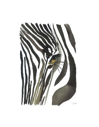 Zebra Eye-Jessica Durrant-Art Print