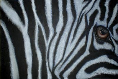 Zebra Eye-Cherie Roe Dirksen-Giclee Print