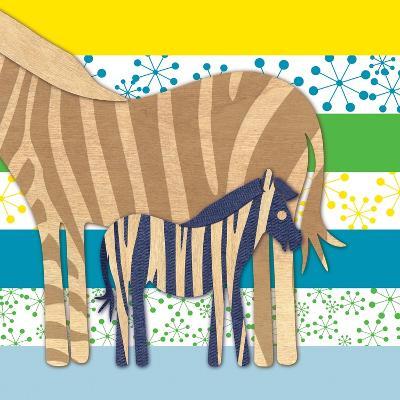 Zebra Family-Z Studio-Art Print