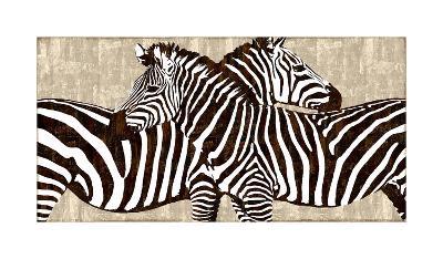 Zebra Gathering-Darren Davison-Giclee Print