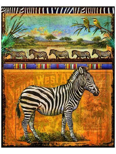 Zebra I-Chris Vest-Art Print