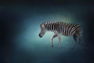 Zebra in the Moonlight-Jai Johnson-Giclee Print