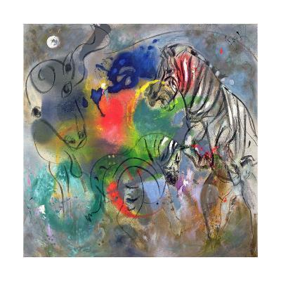 Zebra Mares, 1988-Jane Deakin-Giclee Print